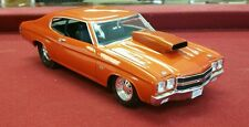 Welly 1970 Chevrolet Chevelle Pro Street SS 454 1:18 Diecast Car TANGERINE