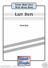 LAZY DAYS - Tenor Horn & Brass Band - Music Score and Parts *NEW*