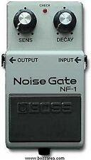 BOSS NF-1 NOISE GATE SUPPRESSOR EFFECTS PEDAL MADE IN JAPAN 1986 BLACK LABEL