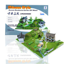 Chinese Style Ancient Residential Garden DIY Model Kits Science & Education