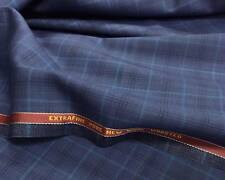 Luxury Suiting Jacketing Blue With Light/Dark Blue Check 10.0Mts