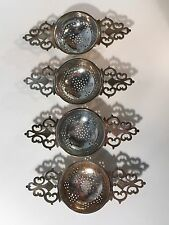 Wakely & Wheeler Sterling Silver Tea Strainers 4x 250+ grams