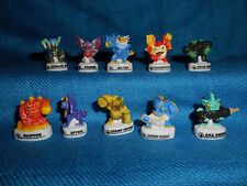 SKYLANDERS Set of 10 Mini Figurines French Porcelain FEVES Figures SPIRO CYNDER