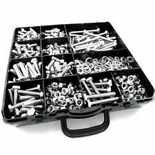 725 pcs M6 ASSORTED BOLTS NUTS AND WASHERS KIT SET A2 STAINLESS DIN 933