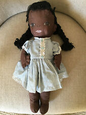 ADORABLE primitive Vintage Black Americana Folk Art HANDMADE Cloth Doll AAFA