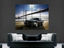 MASERATI SUPER CAR FAST SPORT BRIDGE  HUGE LARGE WALL ART POSTER PICTURE