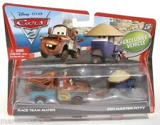 Disney Pixar Cars 2 Die-Cast Car Race Team Mater & Zen Master Pitty Exclusive