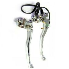 BRAND NEW BRAKE AND CLUTCH LEVERS WITH CHROMED FINISH ROYAL ENFIELD MOTORCYCLES