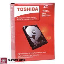"Toshiba Internal Hard Disk Drive 2TB P300 SATA III 6Gb/s 3.5"" 7200 64MB Desktop"