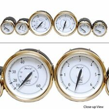 Faria Newport Gold Series Boat Gauge Set | Gold/White/Black (6 Pc Set)