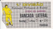 MATCH TICKET FOR CLUB SPORT MARITIMO OPPONENTS AND DATE UNKNOWN PORTUGAL LEAGUE