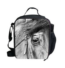 HORSE RIDING EQUESTRIAN WESTERN ACCESSORIES HORSE PRINT INSULATED LUNCH BAG b