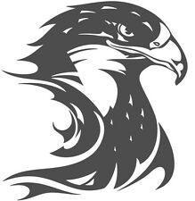 (Nr66) FIRE FLAME EAGLE HAWK HEAD DECAL VINYL STICKER FOR WALL WINDOW TRUCK CAR