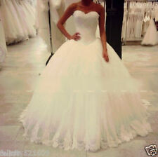 2015 White/Ivory Wedding Dress Bridal Ball Gown Size 6-8-10-12-14-16 or Custom