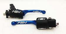 ASV Blue F3 Unbreakable Brake + Clutch Lever Kit Raptor 700 YFZ450 450R 2007+