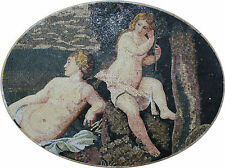 Nude Bathing Ladies Under The Tree Figure Home Decoration Marble Mosaic FG756