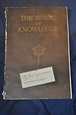 Ca 1919 Book of Knowledge Encyclopedia Sales Sample