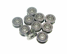 (10)3x13x6mm 3mm V Groove width 4mm Sealed Guide Pulley Rail Ball Bearing