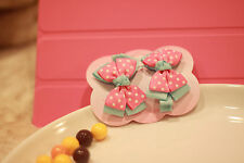 Handmade Toddler Kid 2PCS Dots Bow Baby Boutique Alligator Girl Hair Clip