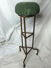 Antique Victorian Hat Stand Wig Stand Metal Velvet Soft Top Collectors Piece