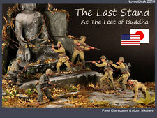 PRO-BUILT 1/35 The Last Stand (Painted IJA and US 7 figures with diorama base)