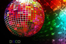 Framed Print - Funky Multi-Coloured Disco Ball (Music Picture Poster Art)
