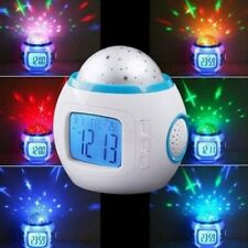 New Romantic Night Light Musical Star Sky Projector Alarm Clock Calendar