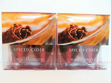 Bath Body Works Slatkin Co SPICED CIDER Wallflower Refill Bulbs, NEW x 2 boxes