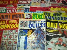 Lot of 38 Assorted Quilting Magazines McCalls Quilt World Stitch 'n Sew Quick...