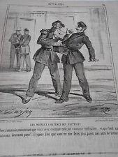 Caricature 1862  Les Nouveaux Costumes des Facteurs