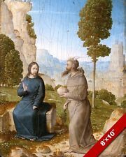 THE TEMPTATION OF JESUS CHRIST BY SATAN PAINTING BIBLE ART REAL CANVAS PRINT