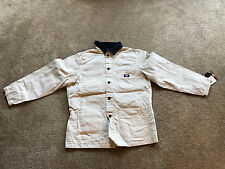 NEW DICKIES WORKWEAR FLANNEL LINED OFF WHITE JACKET SIZE M