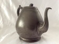 Antique Victorian Sheffield Pewter Bulbous Tea Pot B Grayson & Sons C.1870