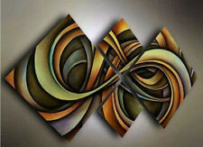 HUGE OIL PAINTING MODERN ABSTRACT WALL DECOR ART CANVAS 4PC(no frame)