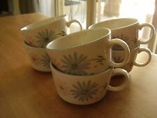 Franciscan Maytime Lot of Six Cups and Five Saucers FREE SHIPPING