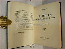 DIRITTO: Filippo Manci, LA TRUFFA nel Codice penale italiano 1930 Bocca
