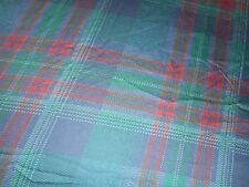 Rare RALPH LAUREN Greycliff Tartan Plaid Sateen King Flat Sheet Gorgeous!!!