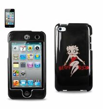 iPod Touch 4th Gen - HARD PROTECTOR CASE COVER RED BLACK BETTY BOOP HEART LOVE