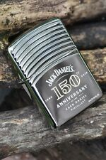 Zippo Lighter - Jack Daniels 150th Anniversary Armor - Old No. 7 - Black Ice