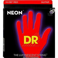 DR Strings NRE-9 Neon Red Coated Medium Bright Electric Guitar Strings 9-42
