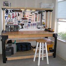 Workbench + Shelves Kit Table Garage Workshop Wood Storage Shelf BestDealer