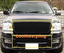 For 2004 2005 FORD F150 F-150 BLACK COLOR Billet Grille Grill Inserts Bolton