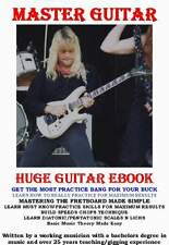 Master Guitar Lessons Scales Theory Made Easy E Book Rock Blues Country Tab