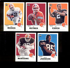 1999 Retro Cleveland Browns Set JIM BROWN OZZIE NEWSOME TIM COUCH TY DETMER