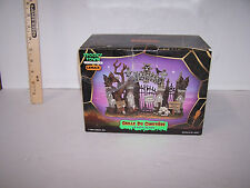 Lemax Halloween Spooky Town CEMETERY GATE Table Accent