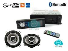 AUTORADIO STEREO BLUETOOTH MP3 USB SD AUX + COPPIA CASSE AUTO 250W 10CM KIT-AUTO