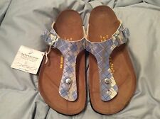 PAPILLIO  BY BIRKENSTOCK GIZEH BLUE RHOMB WOMENS US 11M(NORMAL) EU 42