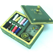 Miniature Threads Dollhouse Scale Miniature Sewing Tiny Doll House Accessories