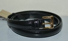 NIB BURBERRY BLACK PATENT LEATHER BELT SZ 44 110 MADE IN ITALY
