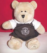 STARBUCKS 2010 Special Edition Bearista Bear Pike Place Market Brown Apron 9""